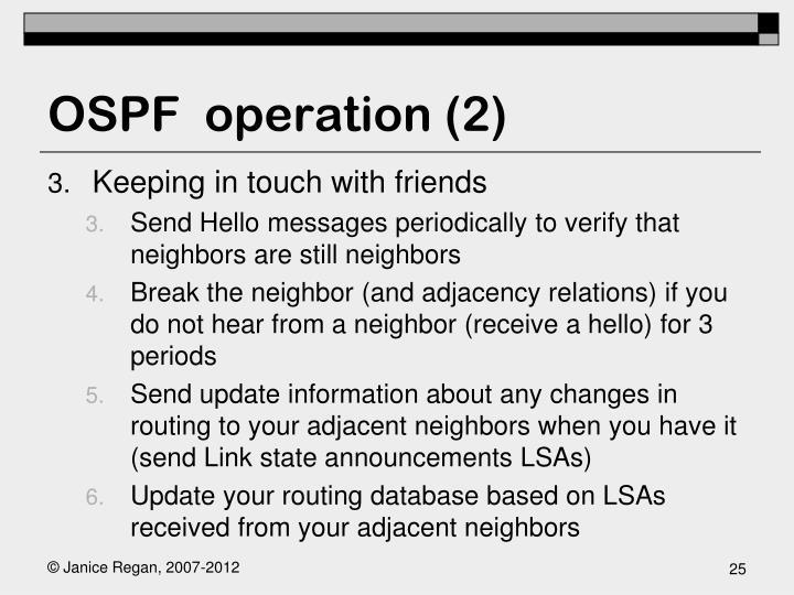 OSPF  operation (2)