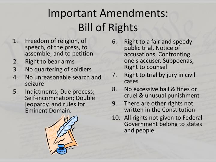 the importance of the first amendment of the bill of rights Bill of rights, in the united states, the first 10 amendments to the us constitution, which were adopted as a single unit on december 15, 1791, and which constitute a collection of mutually reinforcing guarantees of individual rights and of limitations on federal and state governments.