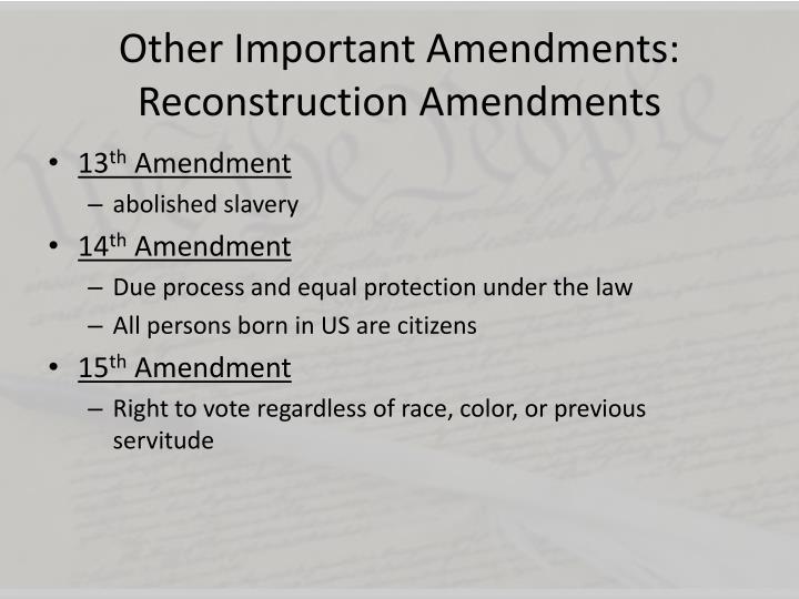 Amendment Summary: 27 Updates to the U.S. Constitution