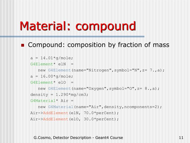 Material: compound