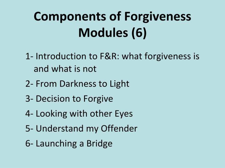 Components of Forgiveness