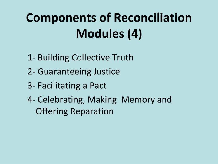 Components of Reconciliation