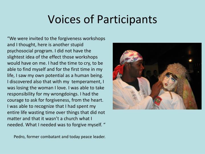 Voices of Participants