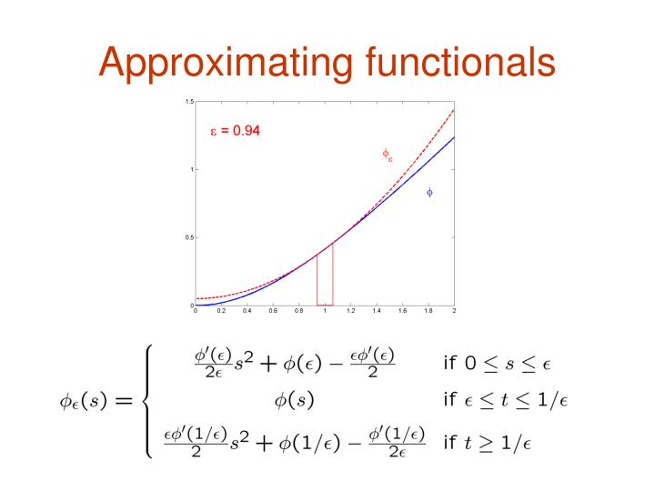 Approximating functionals