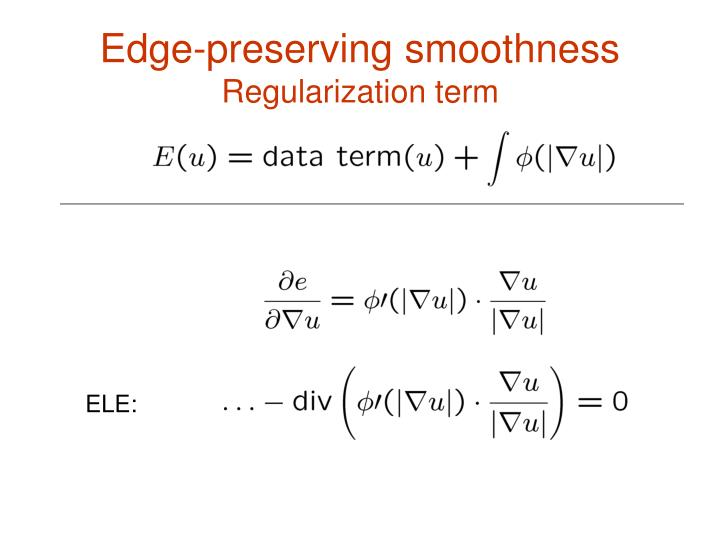 Edge-preserving smoothness