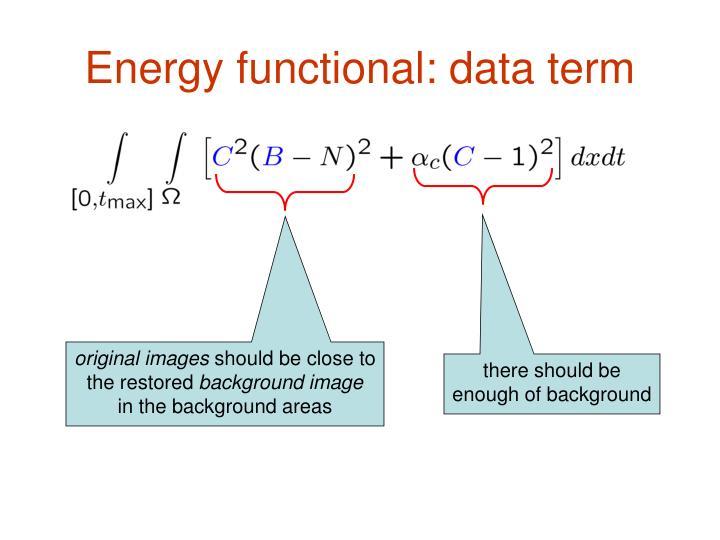 Energy functional: data term