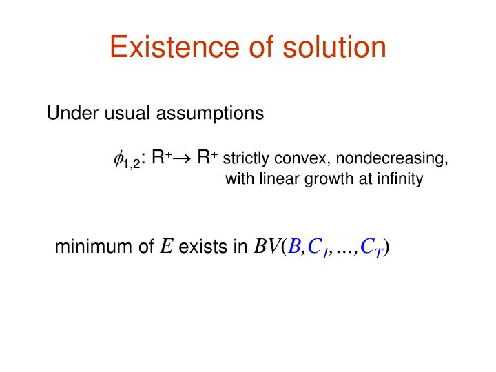Existence of solution