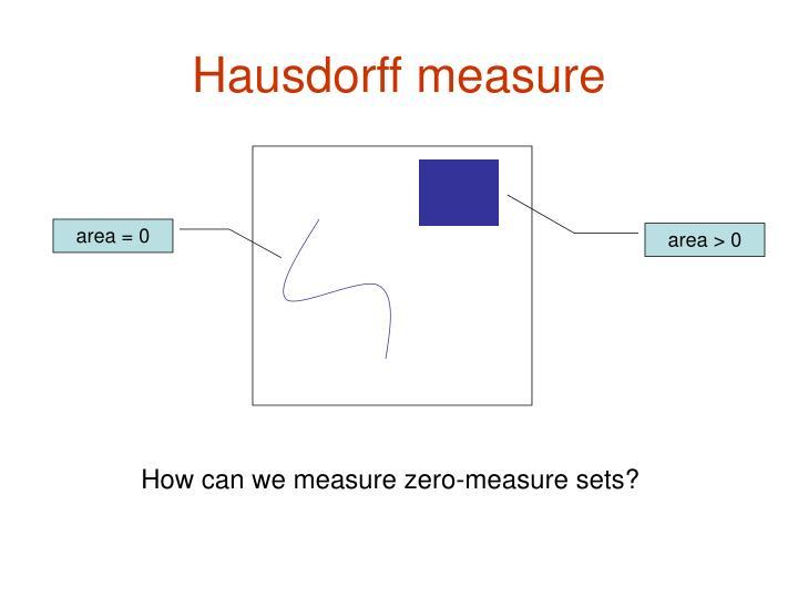 Hausdorff measure