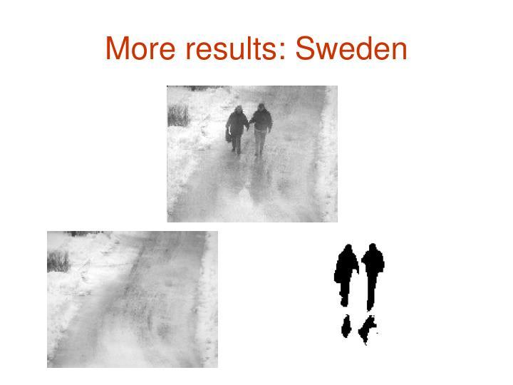 More results: Sweden
