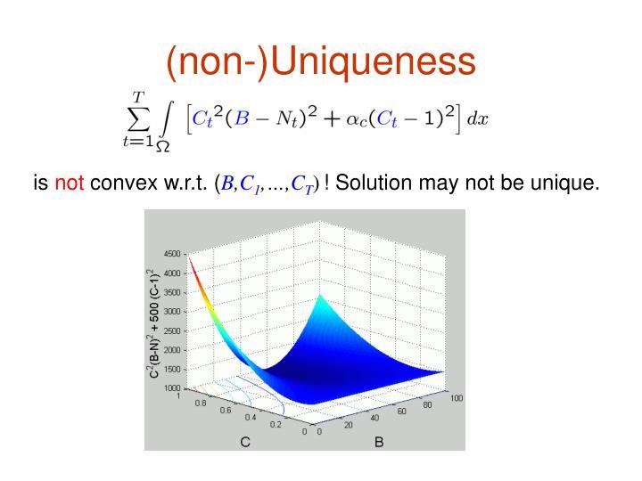 (non-)Uniqueness