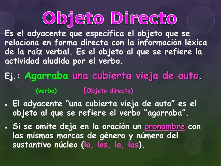 Objeto Directo