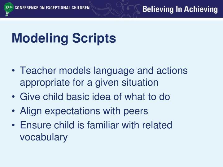 Modeling Scripts