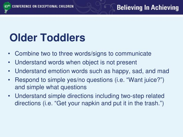 Older Toddlers