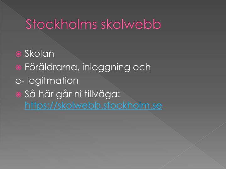 Stockholms skolwebb