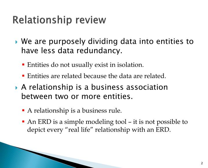 Relationship review