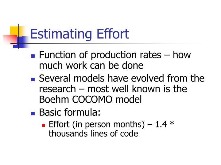 Estimating Effort
