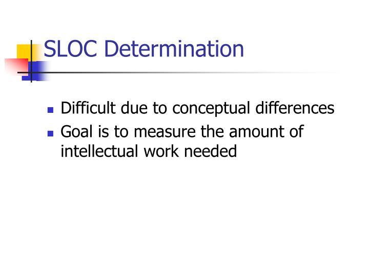 SLOC Determination