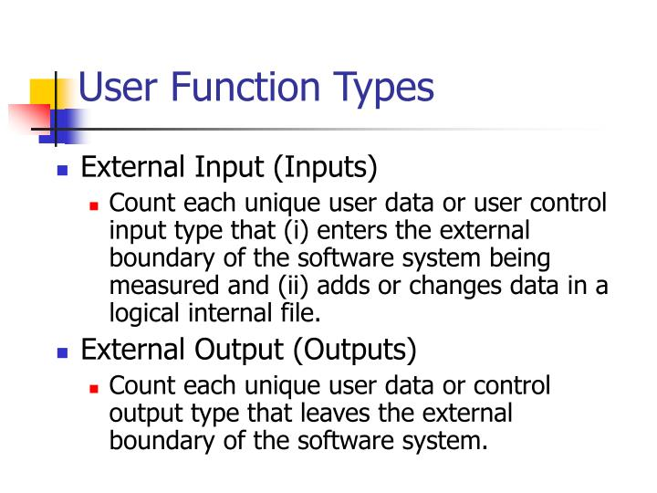 User Function Types