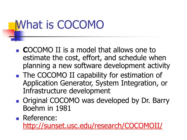 What is COCOMO