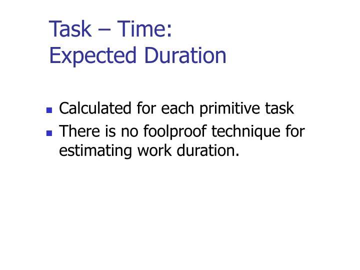 Task – Time: