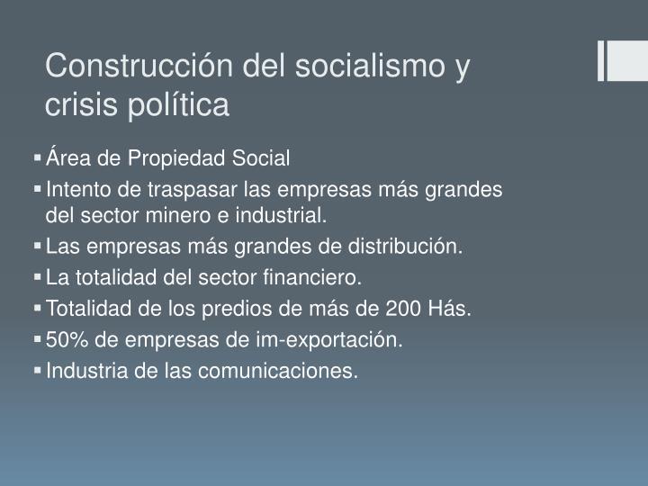 Construcción del socialismo y crisis política