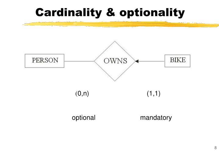 Cardinality & optionality