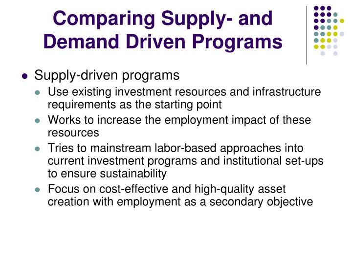 Comparing Supply- and Demand Driven Programs