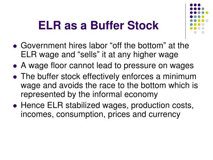 ELR as a Buffer Stock