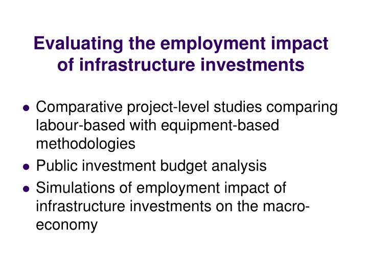 Evaluating the employment impact of infrastructure investments