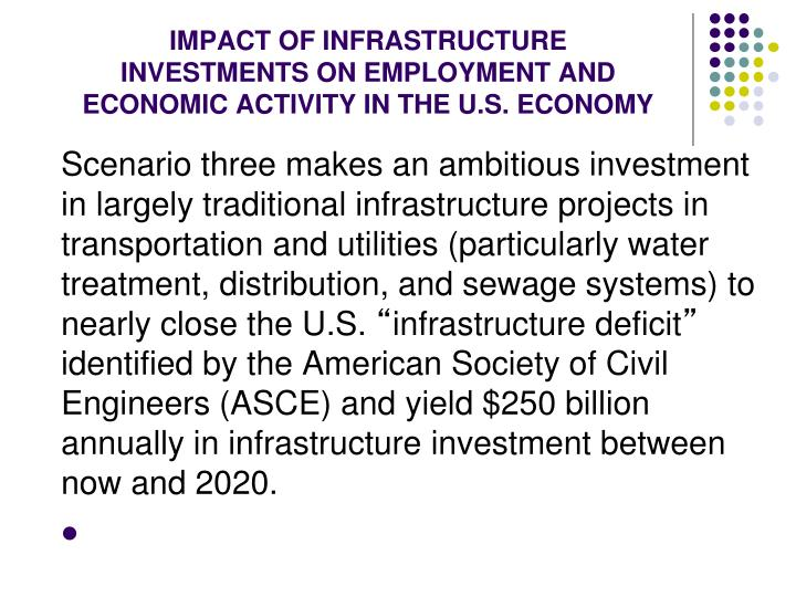 IMPACT OF INFRASTRUCTURE