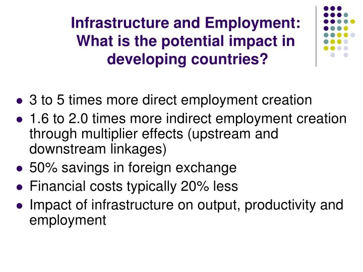 Infrastructure and Employment: