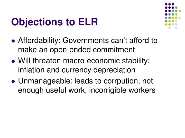 Objections to ELR