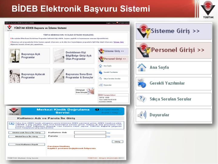 BİDEB Elektronik Başvuru Sistemi