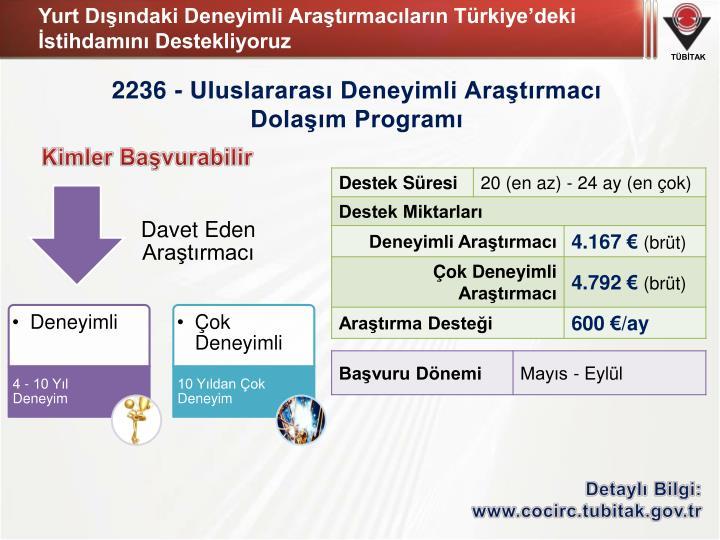Yurt Dışındaki Deneyimli Araştırmacıların Türkiye'deki İstihdamını Destekliyoruz