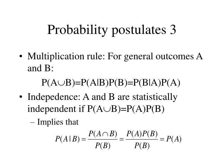 Probability postulates 3