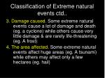 classification of extreme natural events ctd