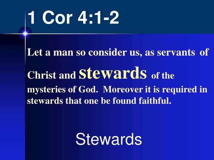 1 Cor 4:1-2