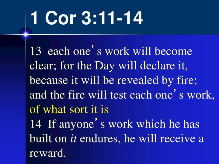 1 Cor 3:11-14