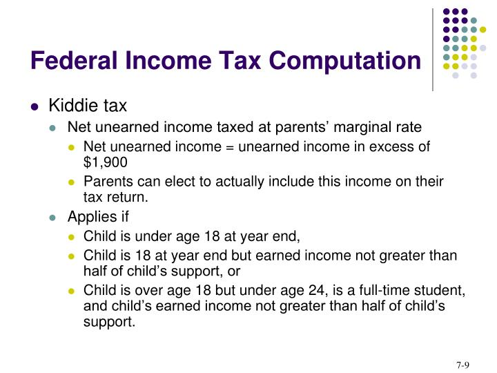 Federal Income Tax Computation