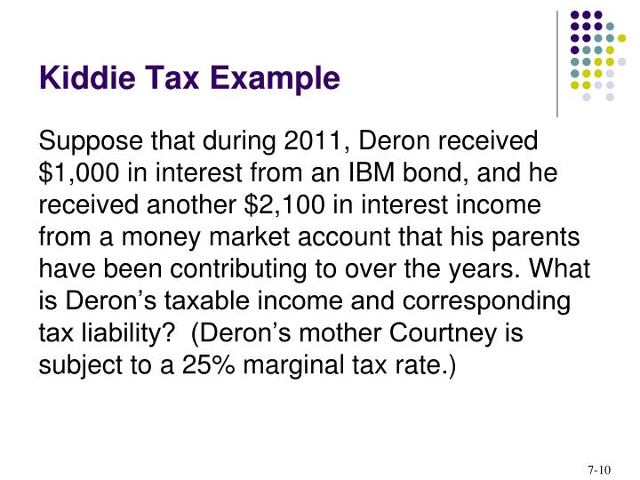 Kiddie Tax Example