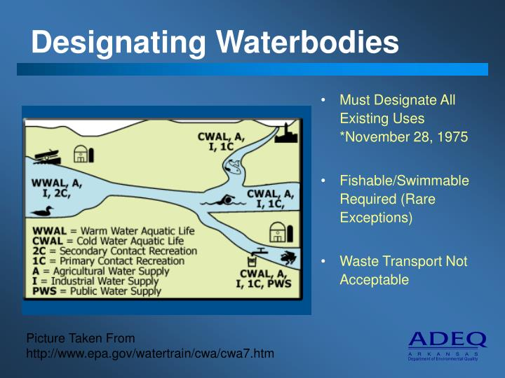 Designating Waterbodies