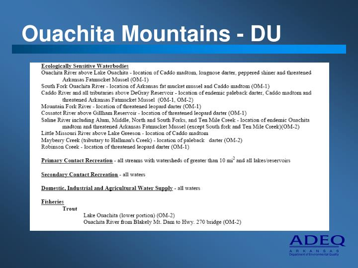 Ouachita Mountains - DU