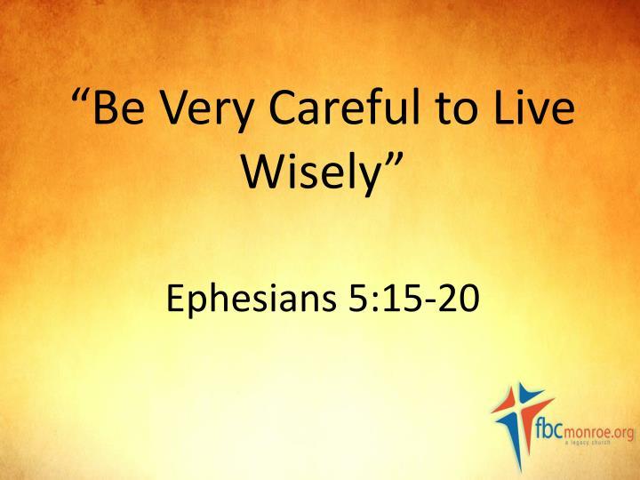 ephesians 4 how to live