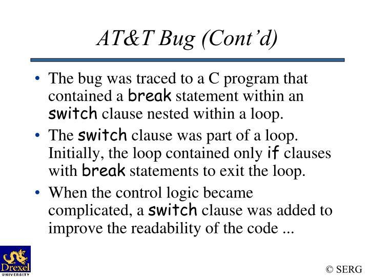 AT&T Bug (Cont'd)