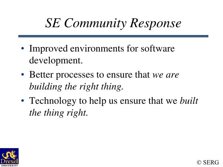 SE Community Response