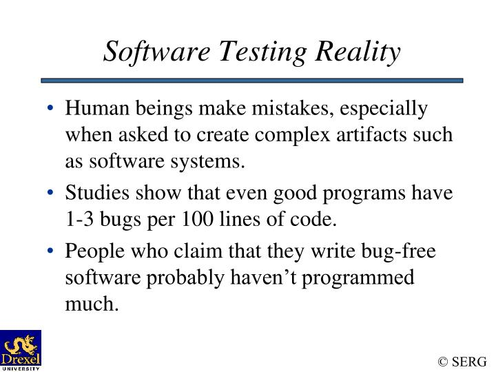 Software Testing Reality