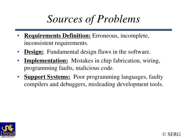 Sources of Problems
