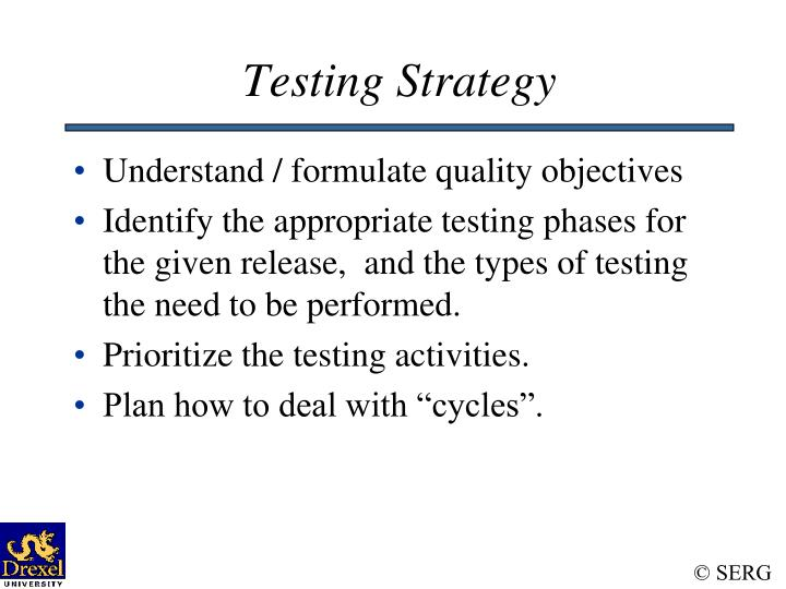 Testing Strategy