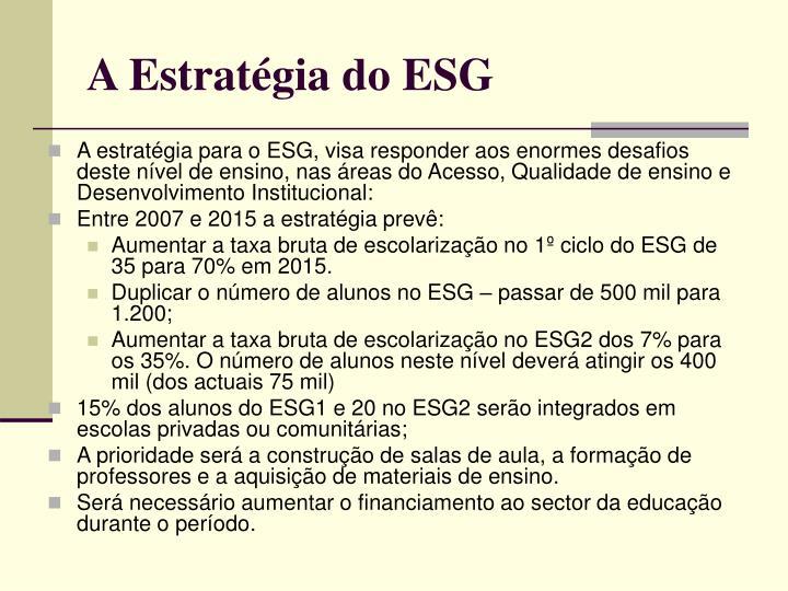 A Estratégia do ESG