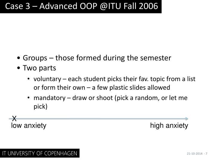 Case 3 – Advanced OOP @ITU Fall 2006